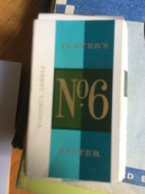 No. 6 Player Packet with 2 original unused cigarettes from 1970s.