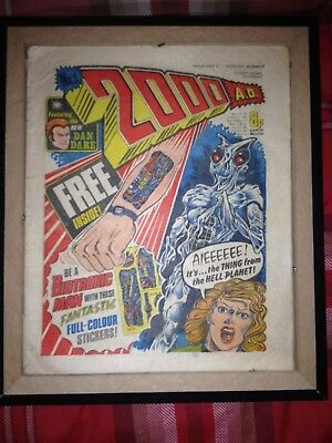 2000AD PROG 2  3/5/77 1ST APPEARANCE OF JUDGE DREDD! With BIOTRONIC STICKERS!
