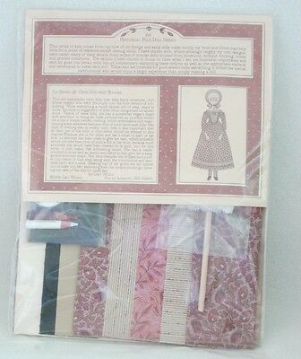 """New in Package Gail Wilson 16"""" Historical Folk Art Cloth Doll Kit-Sold Out Ed"""