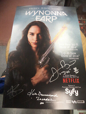 2017 Wondercon Wynonna Earp Cast Signed Poster by 3 +Bonus Tim Rozon