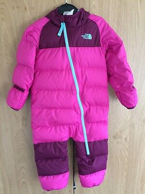 The North Face Toddler Girl Snuggler Snowsuit Ski Goose Down 18-24 Months Pink