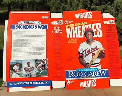 RARE 196/1000 Rod Carew Minnesota Twins General Mills Wheaties Cereal Box