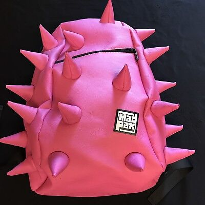 MadPax PINK Spiked Rex Backpack w Laptop Holder. New No Tags. Soft Spike
