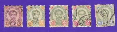 Thailand Stamps, 1880,s one with kedah mark
