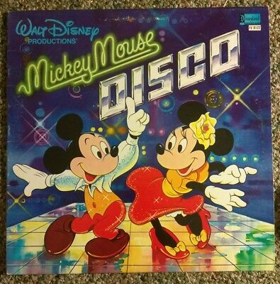 Mickey Mouse Disco Vintage Disney Record Album Disneyland Records TV 8122 1979