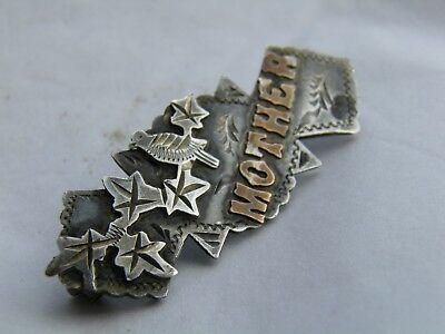 Sterling Silver Victorian Mother Brooch