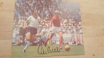 Colin Bell Signed Photo -  England & Manchester City