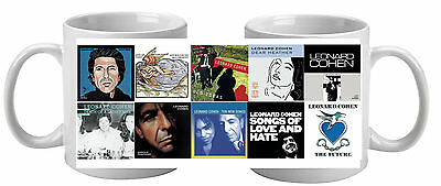 Leonard Cohen  Mug featuring 10 album covers Great Gift Stocking Filler