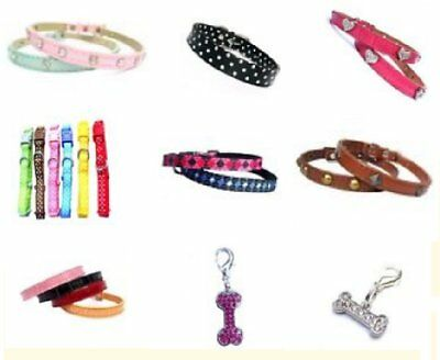 WHOLESALE JOB LOT 35x Crystal Dog Pet Collars and Charms