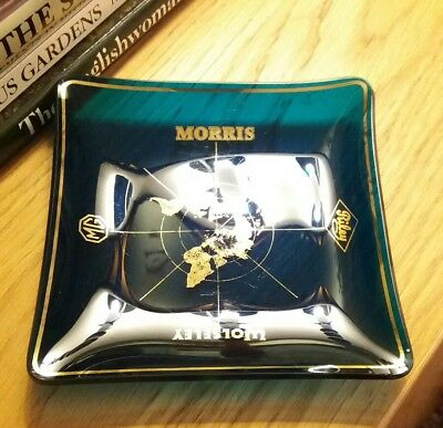 60s 70s MG Wolseley Morris Riley Car Glass Advertising Dish Dad Xmas Present