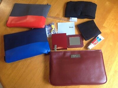 Qantas Sk-2 First Class Amenity Kit With Two Jack Spade Business Class Kits