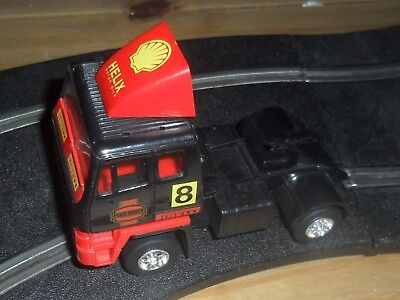 Scalextric rare roadtrain Leyland racing truck / car # 8 superb and fast