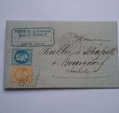 1870 France cover to Burgdorf Switzerland