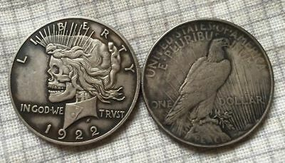 Hobo Style Coin 1922 Liberty Clad Toned Dollar- Rare - Most Popular - Vintage