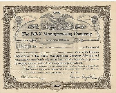 Stk-The F-R-X Manufacturing Co. 1947 Norwalk, OH Fire Fighting Equipment