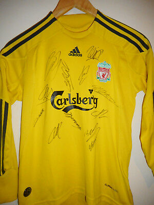 Liverpool signed football shirt by a superstar team with COA