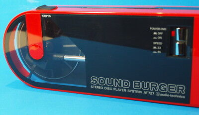 Vintage AUDIO TECHNICA Sound Burger AT 727 Portable Turntable CLEAN WORKS WELL