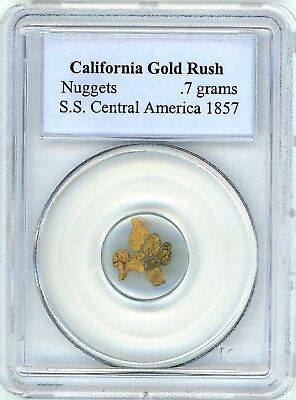 1857 SS Central America shipwreck gold nuggets, .7 grams