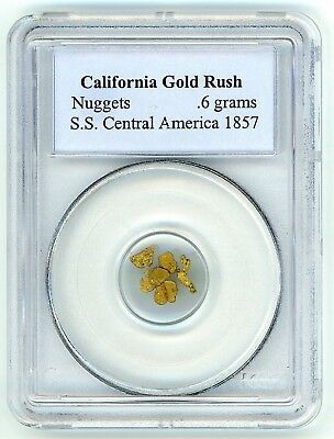1857 SS Central America shipwreck gold nuggets, .6 grams