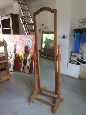 Antique Pine Dressing Mirror
