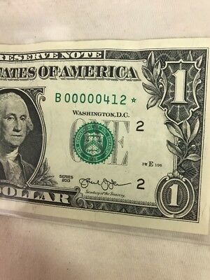 $1 2013 B * Extra Low 3 Digit STAR ⭐️ NOTE Choice Fancy Number New York NY