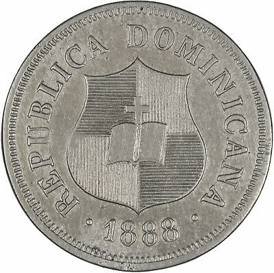 Dominican Republic 1888 1-1/4 Centavos EF, ONE YEAR TYPE