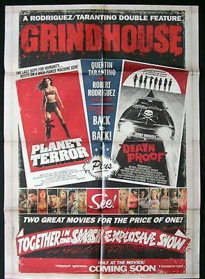 GRINDHOUSE Original One sheet Movie Poster Death Proof Planet Terror