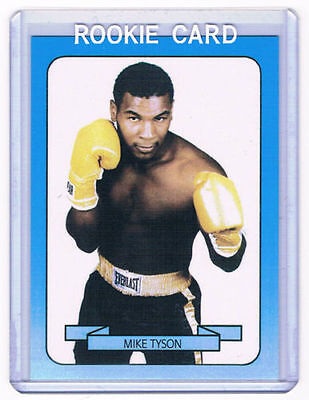 1987-88 Boxing Card Iron Mike Tyson RC Rookie Card # 18 WBC WBA IBF WBO IBO