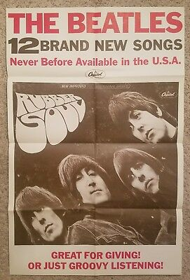 The Beatles Rubber Soul Promo Poster 1965 - Guaranteed Original MINT Condition