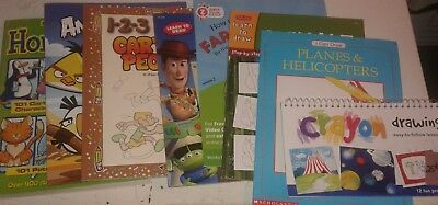 Lot of 8 How to Draw for Art Books for Children S3