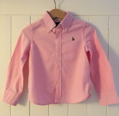 Polo Ralph Lauren Girl's Pink Long Sleeved Shirt Top For 2 Years