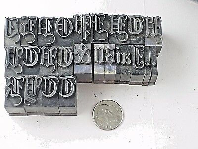 48 Pt Old English Metal Letter Press Letterpress Foundry Type Printing 15 lbs