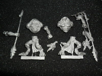 Rackham Confrontation Wolfen Howling Hunters x2 OOP Metal (Cards included)