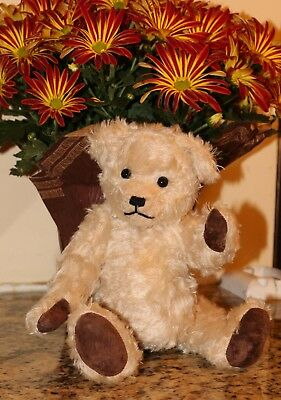 Vintage German Mohair Bear in the Style of Steiff- Glass Eyes- Fully Jointed