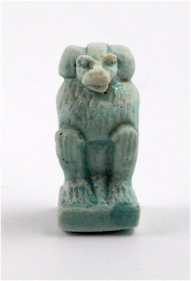 Egypt New Kingdom 18-20th Dynasty a faience amulet of Thoth as a baboon