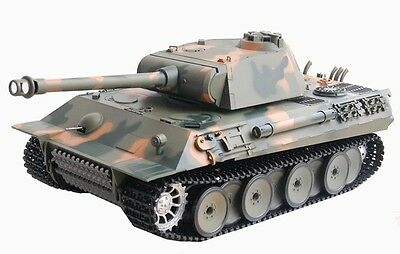 RC Panzer German Panther Heng Long 1:16 Rauch Sound Schuss Metallgetriebe 2,4GHz