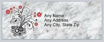 Personalized address labels Flowers Buy 3 get 1 free (xac 866)