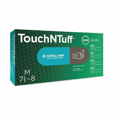 Box 100 200 500 1000 Ansell Touch N Tuff Strong Black Nitrile Disposable Gloves