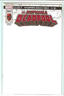 Despicable Deadpool #287 Marvel Legacy Blank Variant NM