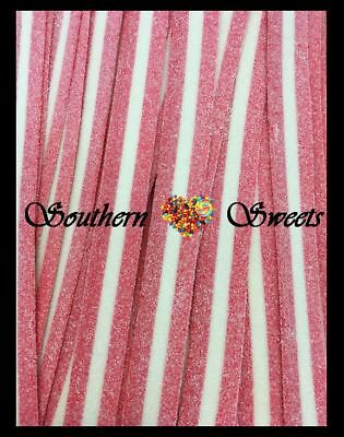 Tnt Sour Straps Strawberry & Cream Pink And White Lollies 835G Bag Approx 100Ct
