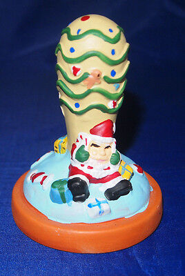 Vintage Santa Cookie Stamp - Porcelain - Brand New