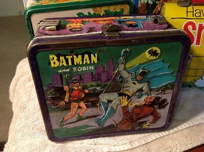 Vintage  Lunch Box Tin Batman 1966