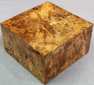 Exotic Wood - Asian Satin Burl Turning Blank, Nice Spalted Lines Too! (Mpb921)