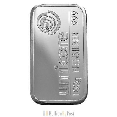 Umicore 100g Silver Bar