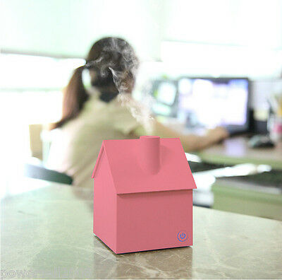 New Mini USB Pink Humidifier Fogger House Style Humidifier Diffuser Nebulizer