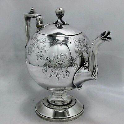 1870 EASTLAKE EGYPTIAN GRAPE VINE REED & BARTON CHOCOLATE DEMITASSE POT 40 oz.
