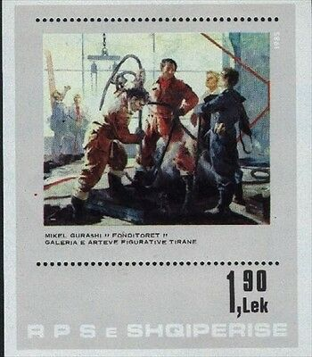 Albania MNH Sc 2181 Mi 2269 Bk85 Paintings