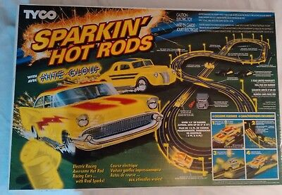 Sparkin' Hot Rods Slot Car Race Track Set - FACTORY SEALED! TYCO 1992