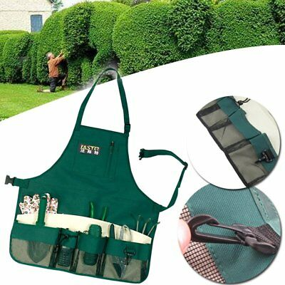 Gardener Storage Apron With/Pockets Multi Bag Garden Planting Tools Waterproof