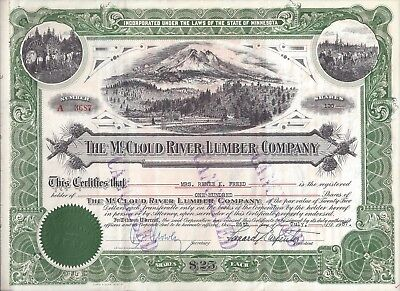 Stk-McCloud River Lumber Co.1956 GREAT vig/ Mt Shasta CA & other scenes